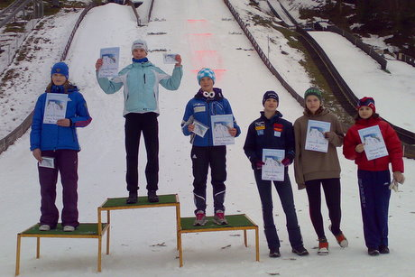 Podium of pupils competition on Sunday
