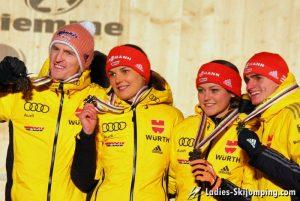 World Championships in Predazzo - Prize giving mixed